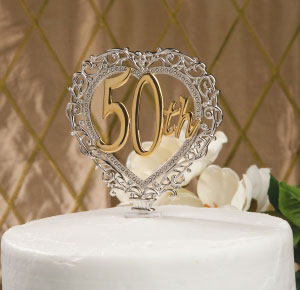 50th Wedding Anniversary Cake Toppers Ideas