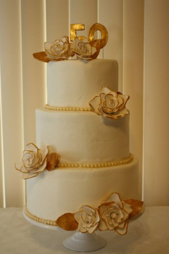 50th Wedding Anniversary Cakes Designs