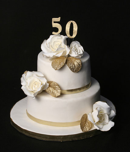50th wedding anniversary cakes - Ideas para celebrar bodas de oro ...