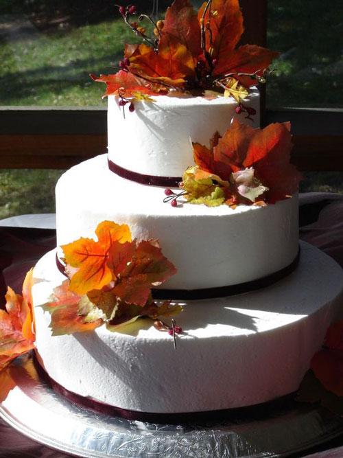 Autumn Wedding Cake Design Ideas