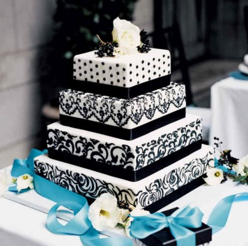 Black and White Wedding Cakes Images