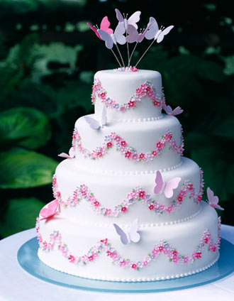 Cake Design Butterfly : Butterfly Wedding Cakes
