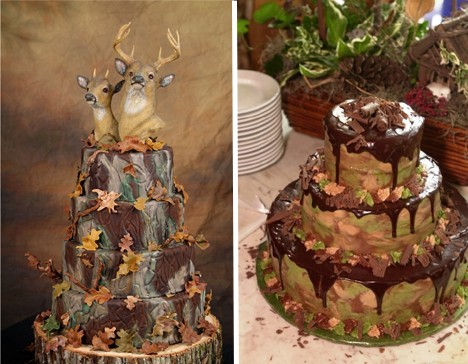 Camo Wedding Cakes Design