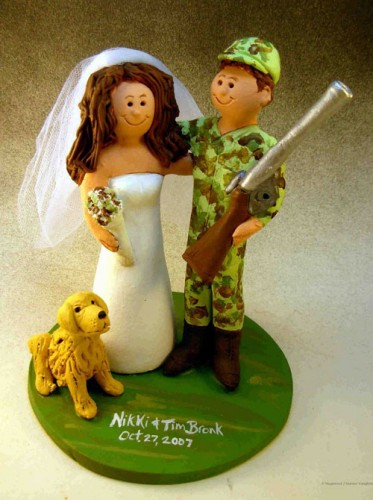 Camo Wedding Cakes Topper