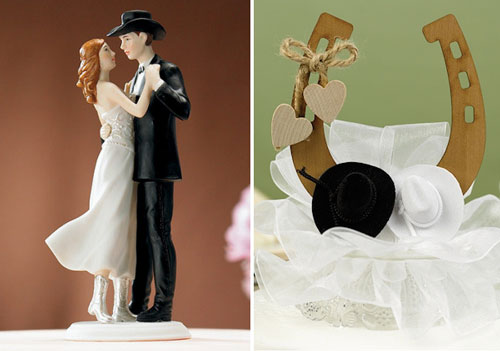 Country Cake Toppers for Wedding Cakes