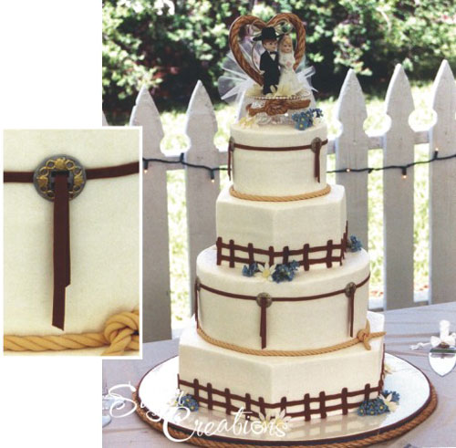 country western wedding cakes country style wedding cakes