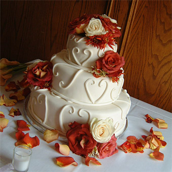 Fall Wedding Cakes Pictures