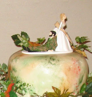 Funny Camo Wedding Cakes Toppers