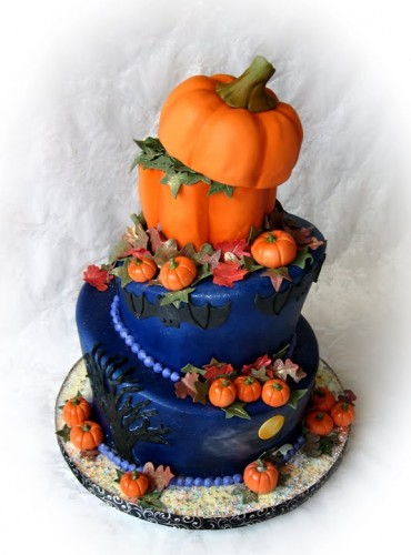 Halloween Themed Wedding Cakes