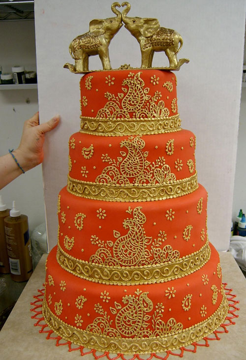 Traditional Indian Wedding Cakes Designs