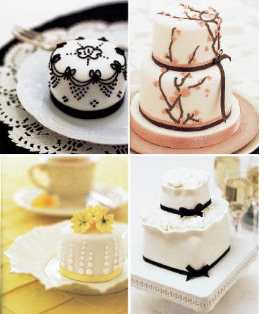 Mini Wedding Cakes Favors