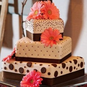 Square Fall Wedding Cakes Pictures
