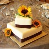Two Tier Square Wedding Cake