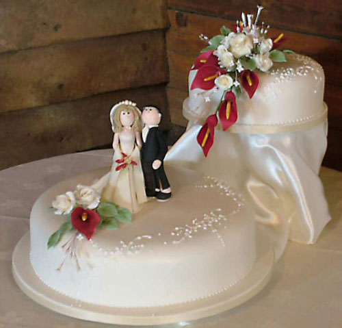 2 Tier Wedding Cakes Pictures