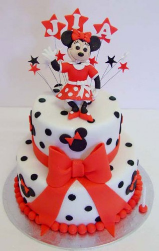 Black Red and White Wedding Cakes