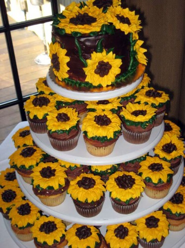 Sunflower Wedding Cakes Cupcakes