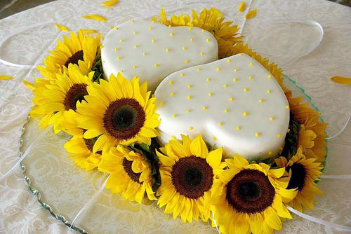Sunflower Wedding Cakes Images