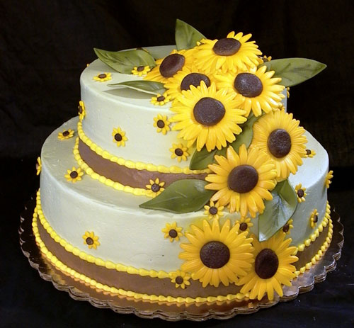 Sunflower Wedding Cake Ideas: Sunflower Wedding Cakes