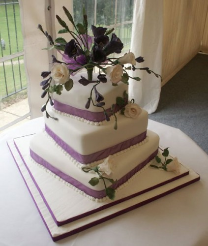 Unique Square Wedding Cakes