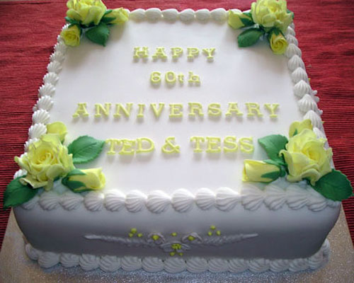 Wedding anniversary cakes ideas - Th anniversary cake decorations ...