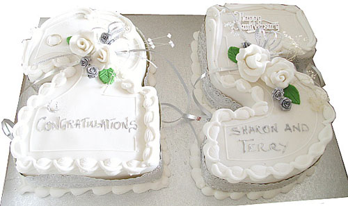 25th Wedding Anniversary Cakes Ideas