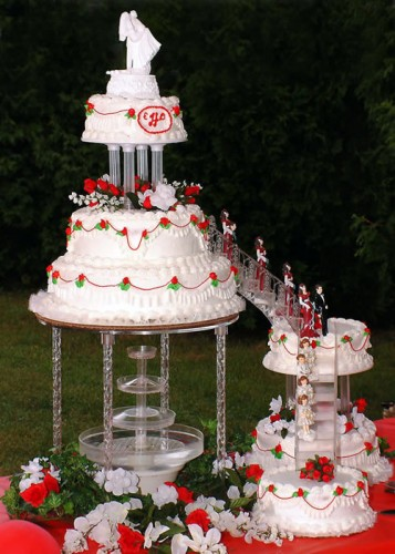 Pictures of Wedding Cakes with Fountains