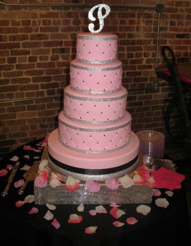 Pink Bling Wedding Cakes