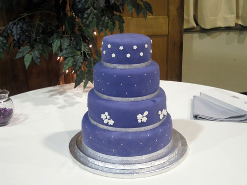 Purple Bling Wedding Cakes