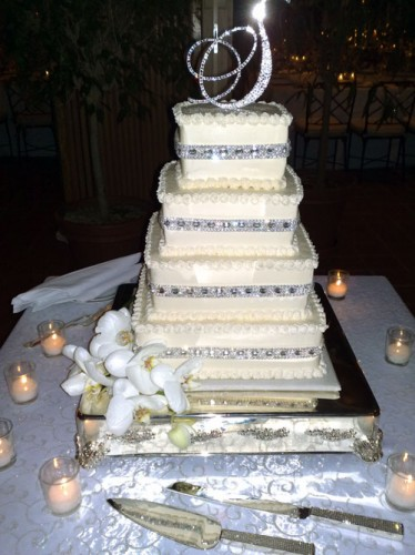 Square Bling Wedding Cakes