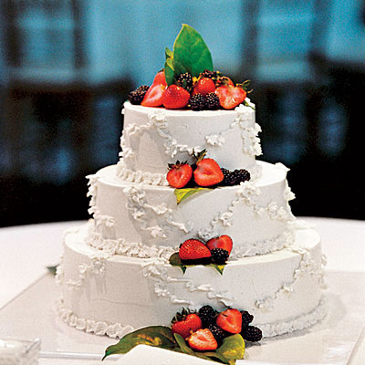 Berry Wedding Cakes - Fresh Fruit Wedding Cake