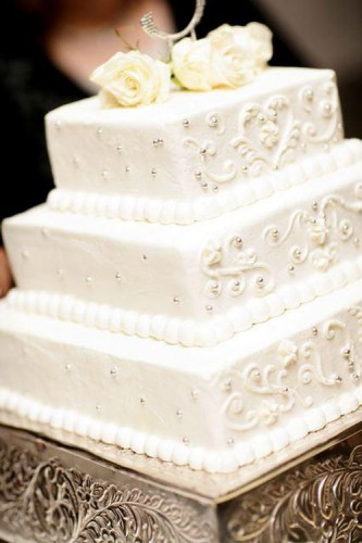 Edible Rhinestones Wedding Cakes