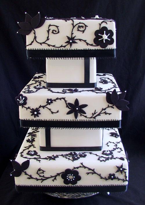 Monochrome Wedding Cakes 2012