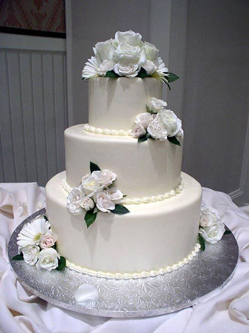 Floral wedding cakes best of cake for Simple wedding cake flowers