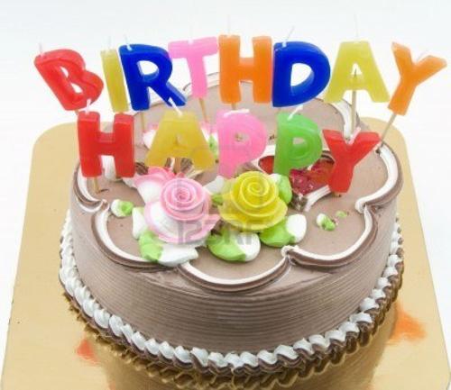 Big Birthday Cake from Chocolate and Summer Berries