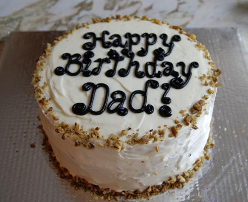 Birthday Cake for Dad Sweet and Simple