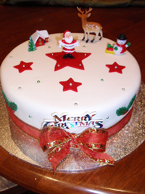 Christmas Cake Design For Tart