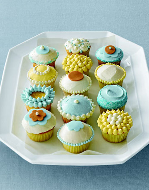 Cupcake decorating ideas for 21st birthday for Cute cupcake decorating ideas for easter