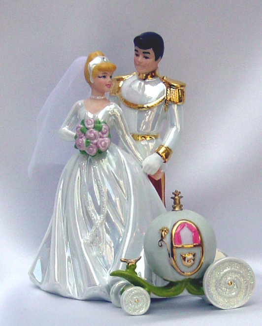 Beautiful Disney Princess Wedding Cake Toppers