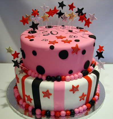 Cool Birthday Cake with Star Accessories