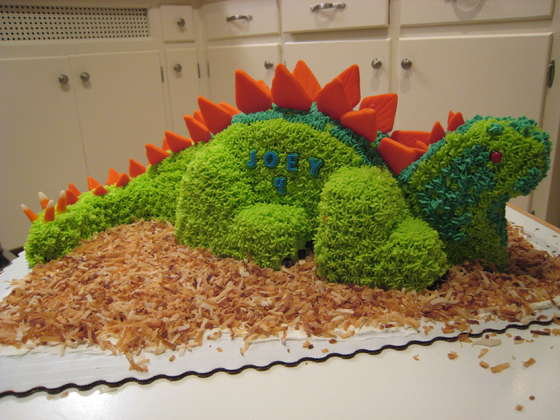 Dinosaur Cool Birthday Cake