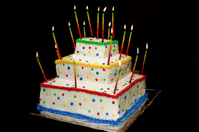 Festive Birthday Cake Design