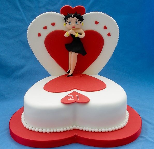 Heart Birthday Cake for Girls