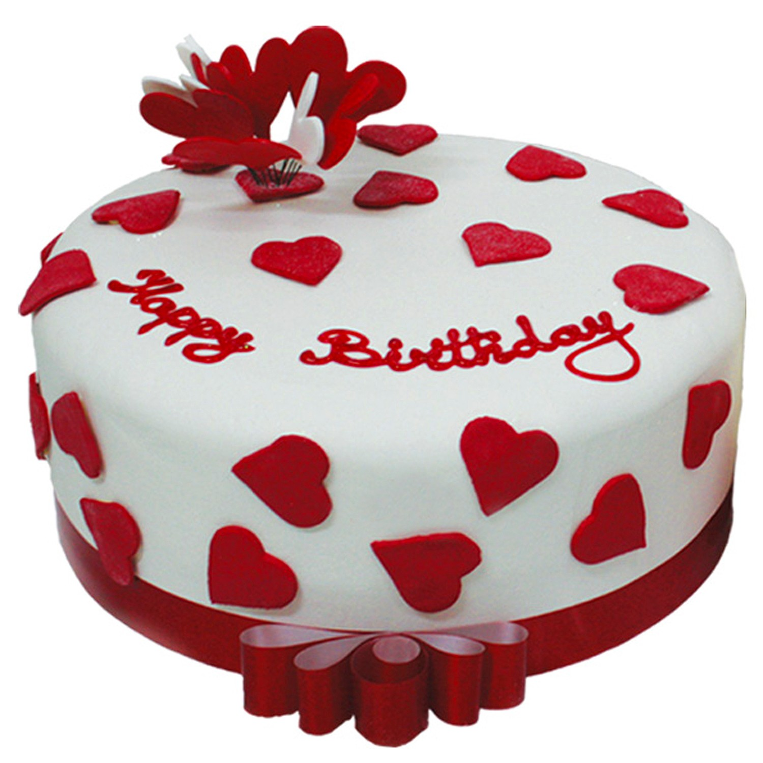Heart Birthday Cake on Valentine Day