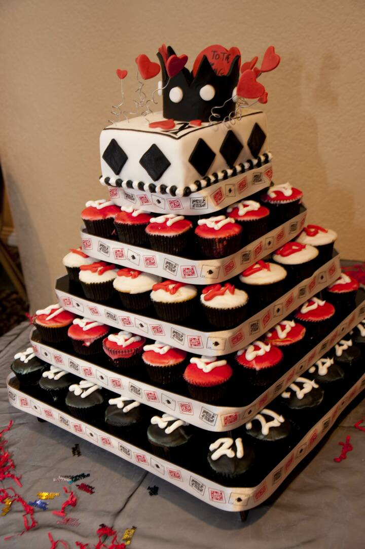 Heart Cupcake Towers