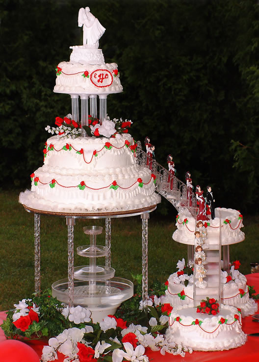 Nice Wedding Cakes Stairs