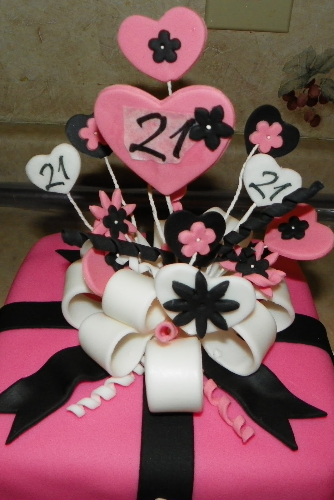 Pink Heart Birthday Cakes for Teenagers