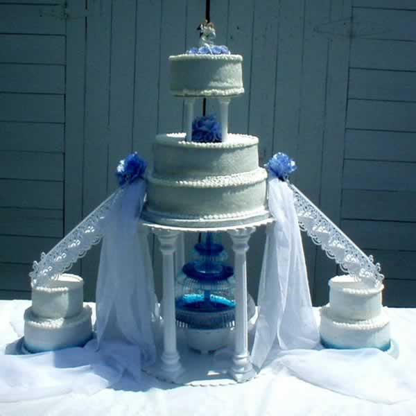 White Luxury Wedding Cakes Stairs
