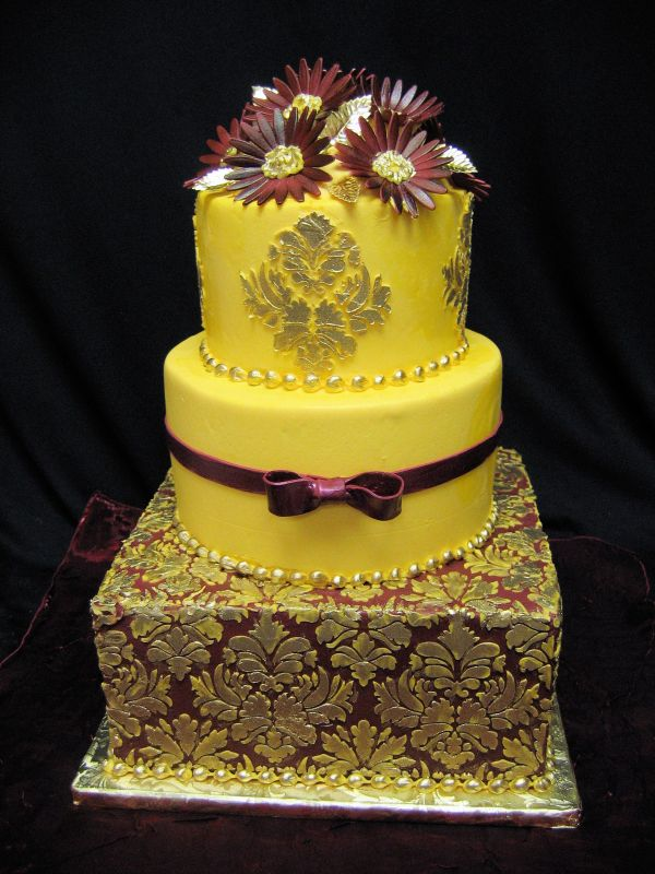 Yellow Gold Wedding Cake