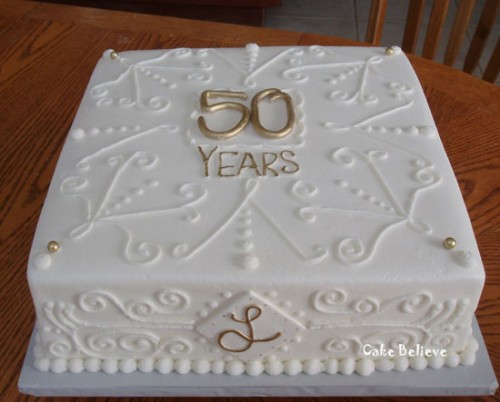 50th Wedding Anniversary Sheet Cakes