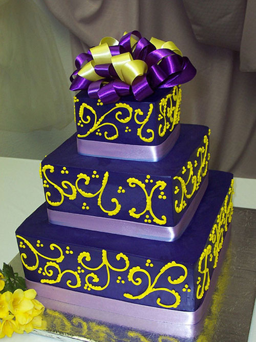 purple and yellow wedding cake ideas purple wedding cakes best of cake 18887